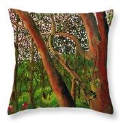 Florida Woodlands Throw Pillow
