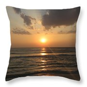 Florida's West Coast - Clearwater Beach Throw Pillow