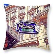 Floridita - Havana Cuba Throw Pillow