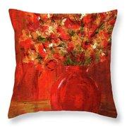 Florists Red Throw Pillow
