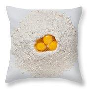 Flour And Eggs Throw Pillow