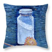 Flour Verses Flower Throw Pillow