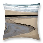 Flow - Scott Creek  Throw Pillow