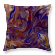 Flow In Chaos Throw Pillow