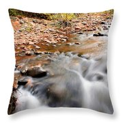 Flow In Sedona Throw Pillow