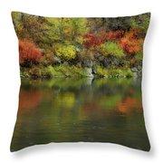 Flow Of Autumn Throw Pillow