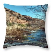 Flow Of The Verde River Throw Pillow