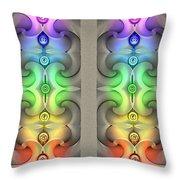 Flow - Stereogram Throw Pillow