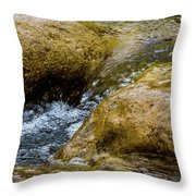 Flow Through And Eddy Throw Pillow