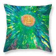 Flowah Powah Throw Pillow