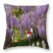 Flower - Wisteria - A House Of My Own Throw Pillow by Mike Savad