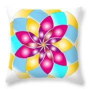 Flower 1317 - Abstract Art Print - Fantasy - Digital Art - Fine Art Print - Flower Print Throw Pillow