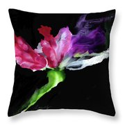 Flower In The Dark 3 Throw Pillow