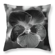 Flower 5 - Black And White Throw Pillow