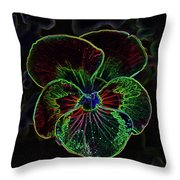 Flower 5 - Glowing Edges Throw Pillow