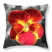 Flower 5 - Reverse Black And White Throw Pillow