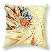 Flower Abstract Light Throw Pillow