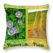 Flower And Fields Throw Pillow