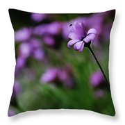 Flower And Fly Throw Pillow