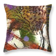 Flower And Leaves II Throw Pillow