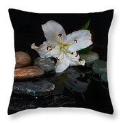 Flower And Stone Throw Pillow