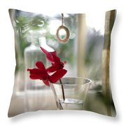 Flower And Window Throw Pillow