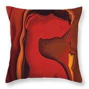 Flower And  Women Throw Pillow