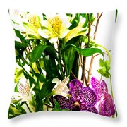 Flower Arrangement 1 Throw Pillow