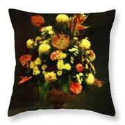 Flower Arrangement Throw Pillow