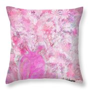 Flower Art The Scent Of Love Is In The Air Throw Pillow