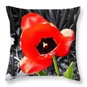 Flower As Art Throw Pillow
