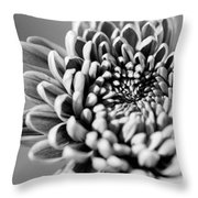 Flower Black And White Throw Pillow