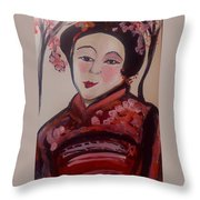Flower Blossom Was Her Name  Throw Pillow