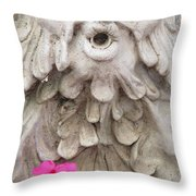 Flower Blower Throw Pillow