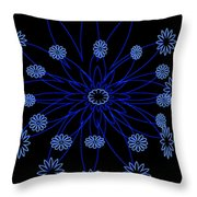 Flower Blue Throw Pillow