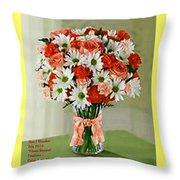Flower Bouquet Creations Catus 1 No. 1 Throw Pillow