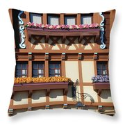 Flower Boxes Throw Pillow