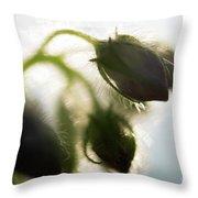 Flower Buds Abstract Throw Pillow