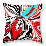 Flower Burst Of Color Throw Pillow