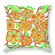 Flower Carnival Throw Pillow
