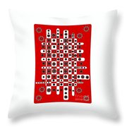 Flower Chess Throw Pillow