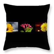 Flower Composite Trio Horizontal Throw Pillow