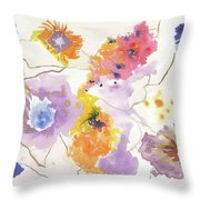 Flower Connection Throw Pillow