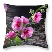 Flower Country Throw Pillow
