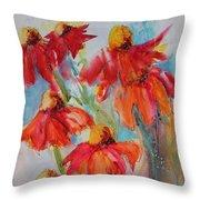 Flower Dance IIi Throw Pillow