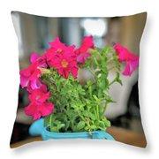 Flower Decoration Throw Pillow