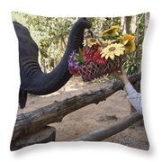 Flower Delivery By Trunk Throw Pillow