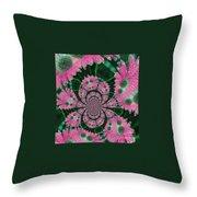 Flower Design Throw Pillow by Karol Livote