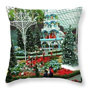 Flower Dome 29 Throw Pillow
