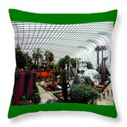 Flower Dome 3 Throw Pillow